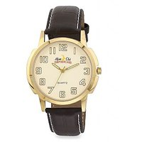 ALPINE CLUB SWITZERLAND ACW-009-YEL-BRW-GLD MEN WATCH