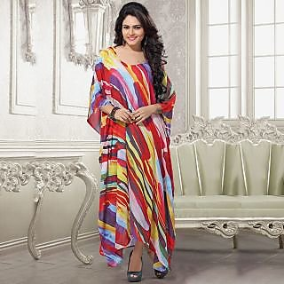 Elegant and unique Retro Print floor Length kaftan