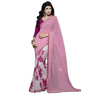 Manvaa Multicolor Georgette Saree