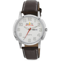 ALPINE CLUB SWITZERLAND ACW-011-SIL-SIL-BRW DAY AND DATE MEN WATCH