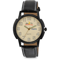 ALPINE CLUB SWITZERLAND ACW-013-YEL-BK-BK MEN DAY AND DATE WATCH