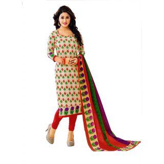 Miraan Multicolor Cotton Printed Kurta & Churidar Dress Material
