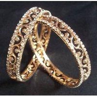 Golden stone bangle