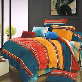 Valtellina Double bed sheet With 2 Pillow Covers  1 A.C. Blanket