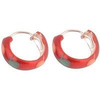 Silverwala Shinny Ring Silver Hoop Earring (BLP441E)