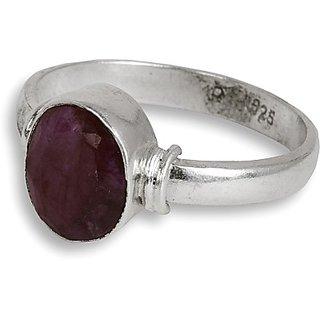 Silverwala Silver Ruby Ring (FRGSSL000000081)