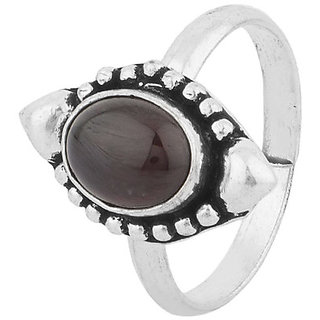 Silver Tone Stunning Design Ring Black