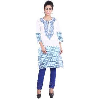 Geroo pure cotton hand printed jaipuri kurta with emboidery MKK-15114