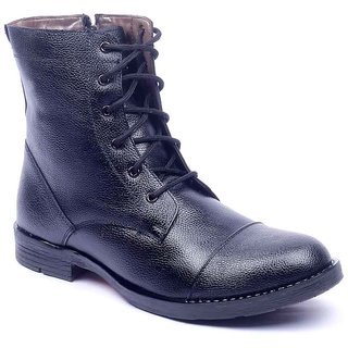 Foot 'n' Style Modish Black Ankle Length Boots (fs244)
