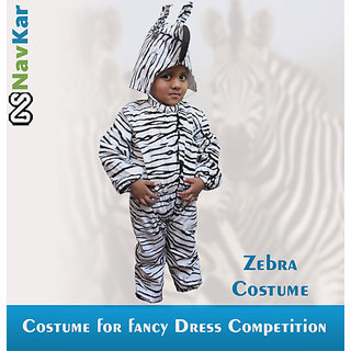 Zebra Costumes For Child Fancy Dress Competition Medium Size 7 - 9 Years