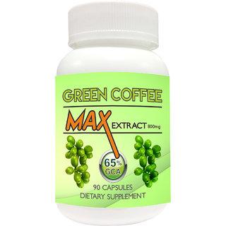 Green Coffee Max Extract Chlorogenic acid (GCA) 800mg vegetarian 90 capsules weight loss 100 Pure Natural