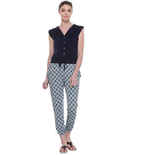 TAB91 Blue Casual Jumpsuits For Women