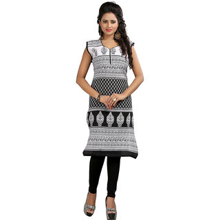 The BrandStand Black Crepe Short Kurti For Women (KRT6034-Blk)