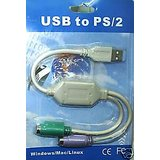 USB To PS2 Converter / Cable For Keyboard And Mouse
