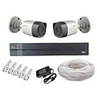 Cp Plus 2 Bullet Camera  +4 Channel Dvr + Connectors + Power Supply+ Hard Disk + Wires Combo