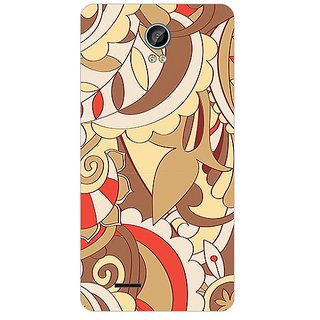 Garmor Designer Plastic Back Cover For Intex Aqua Life 2