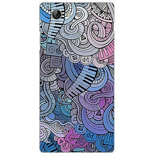 Garmor Designer Plastic Back Cover For Sony Xperia J
