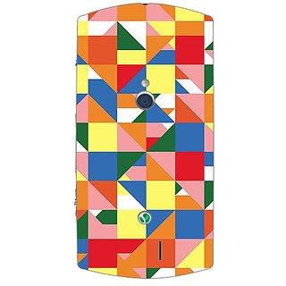 Garmor Designer Plastic Back Cover For Sony Xperia Neo V