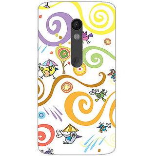 Garmor Designer Plastic Back Cover For Motorola Moto X Play