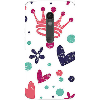 Garmor Designer Plastic Back Cover For Motorola Moto X Play