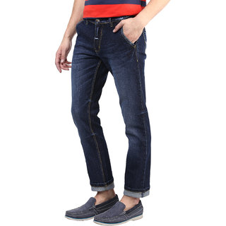Super-X Blue Skinny Fit Jeans For Men-abc134c