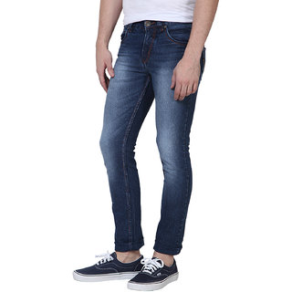 3Concept Blue Mid Rise Jeans For Mens