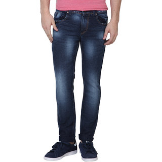 Super-X Blue Skinny Fit Jeans For Men-abc26c