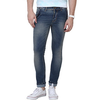Super-X Blue Skinny Fit Jeans For Men-abc21c