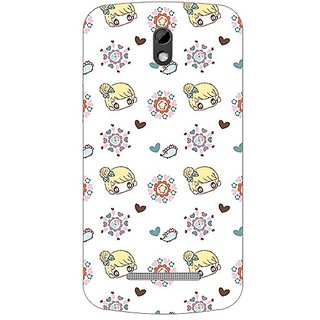 Garmor Designer Plastic Back Cover For Htc Desire 500