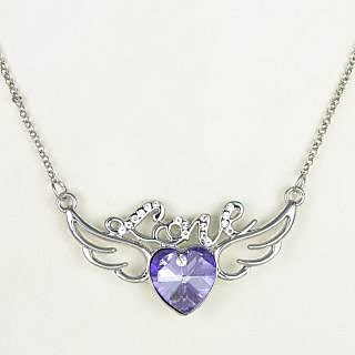 Alloy   Rhinestone Metal designer heart pendant