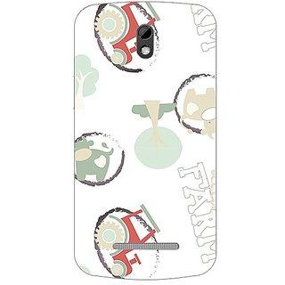 Garmor Designer Plastic Back Cover For Htc Desire 500