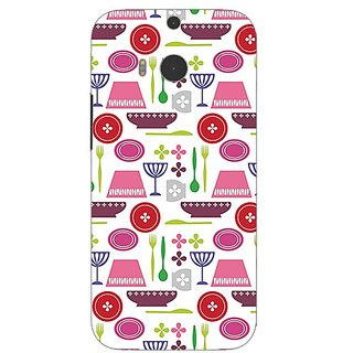 Garmor Designer Plastic Back Cover For Htc One (M8)
