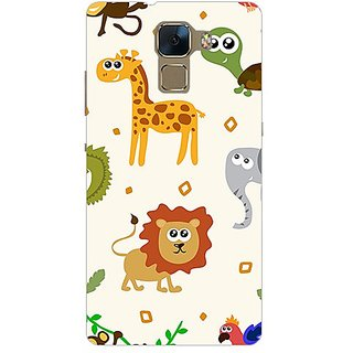 Garmor Designer Plastic Back Cover For Huawei Honor 7