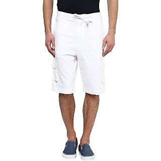 Hypernation Solid Men White Short