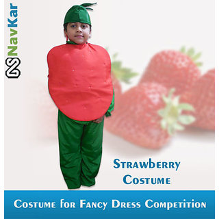 Strawberry Costume for Kids  Fancy Dress Fruit Costume