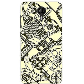 Garmor Designer Plastic Back Cover For Micromax Canvas Nitro 3 E455