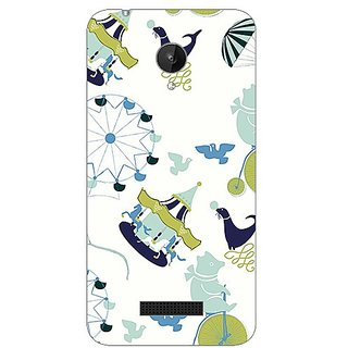 Garmor Designer Plastic Back Cover For Micromax Canvas Spark Q380