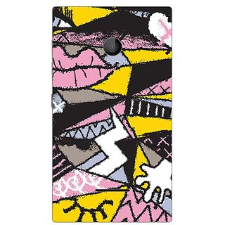 Garmor Designer Plastic Back Cover For Microsoft Lumia 435