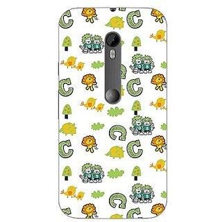 Garmor Designer Plastic Back Cover For Motorola Moto G3