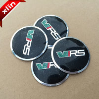 4 X metal VRS Wheel Center Cap Hub Cover badge emblem sticker black color