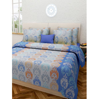 Desi Connection  Printed Cotton Double Bed Sheet(4335)