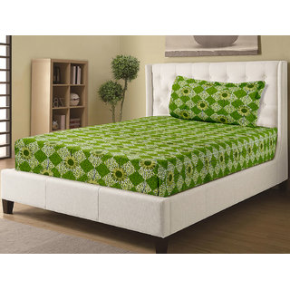 Desi Connection Printed Cotton Single Bed Sheets(S-20172)