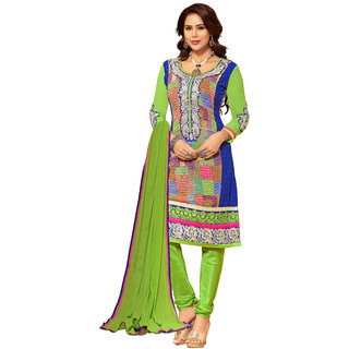 Lovely Look Multicolor Embroidered Un-Stitched Straight Suit LLKKFIG32001