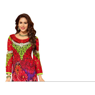 Lovely Look Multicolor Embroidered Un-Stitched Straight Suit LLKKFIG32003