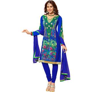 Lovely Look Multicolor Embroidered Un-Stitched Straight Suit LLKKFIG32006