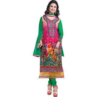 Lovely Look Multicolor Embroidered Un-Stitched Straight Suit LLKKFIshita03