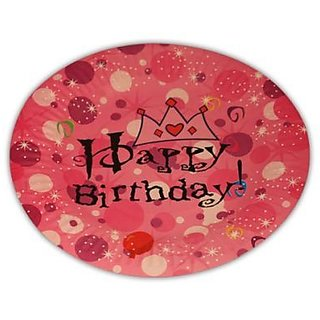 Happy Birthday Princess Tiara Plate 7Inch