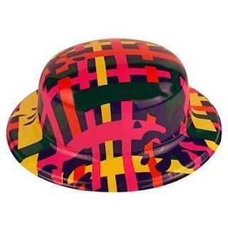 Plastic Party Hat Plaid