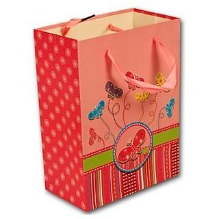 Paper Bag Butterfly Print - Pink
