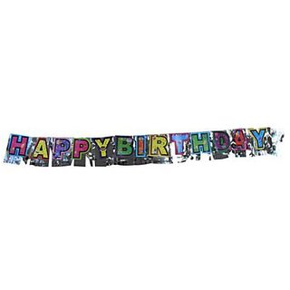 Paper Scroll - Happy Birthday Letter Banner